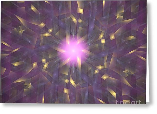 Violet Gold Bamboo Greeting Card