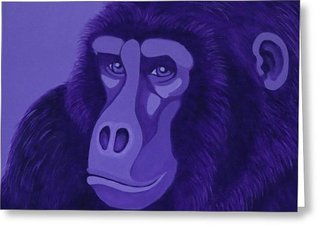 Violet Gorilla Greeting Card