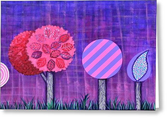 Violet Grove Greeting Card by Graciela Bello