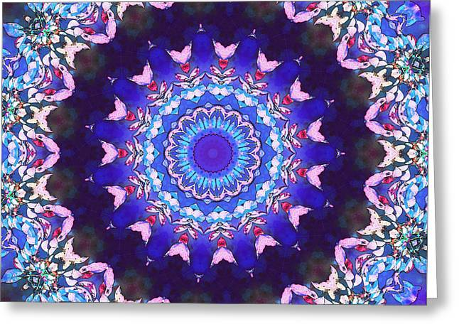 Violet Lace Greeting Card by Shawna Rowe
