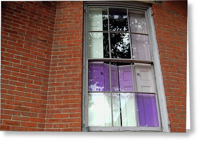 Violet Panes Greeting Card by JAMART Photography
