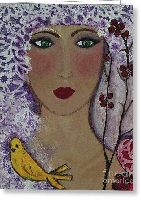 Violet Queen Greeting Card