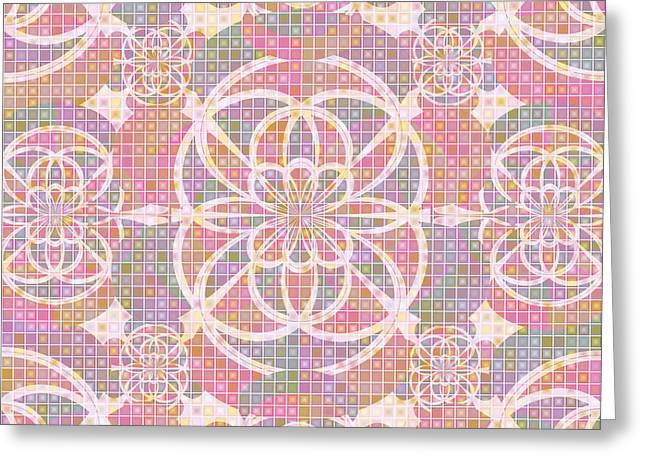 Violet Red Geometry Greeting Card