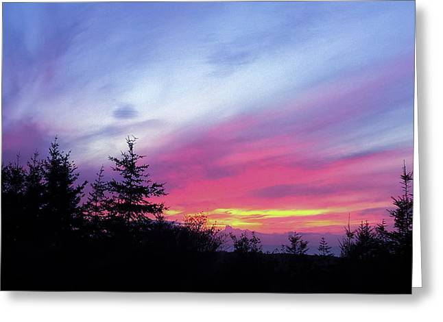 Violet Sunset II Greeting Card