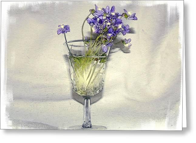 Violet Wine Greeting Card