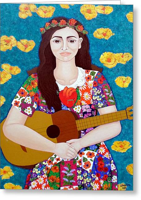 Violeta Parra And The Song The Gardener  Greeting Card