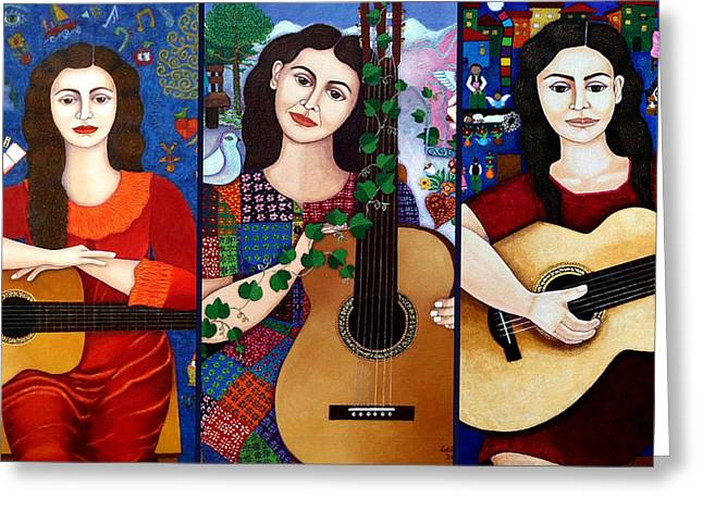 Violeta Parra Collage  Greeting Card