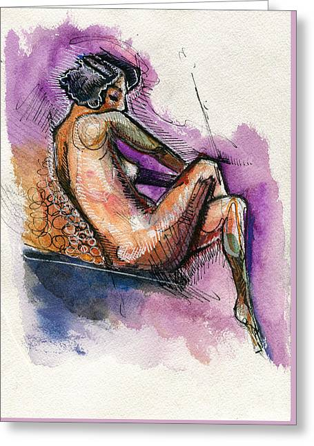 Violetly Demure Greeting Card by Rob Tokarz