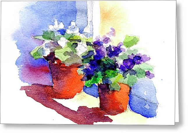 Violets Are Blue Greeting Card