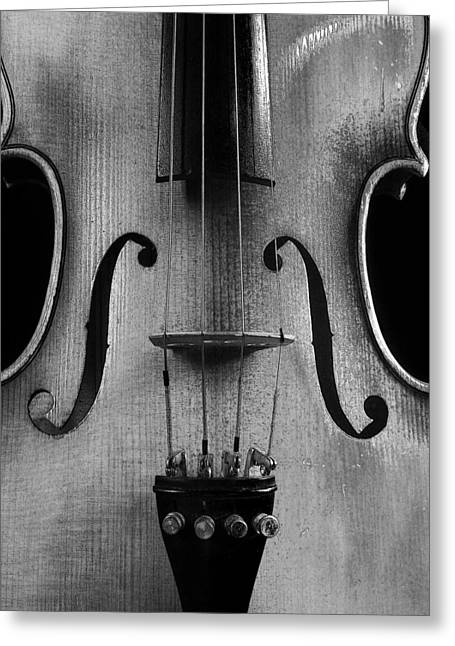 Violin # 2 Bw Greeting Card