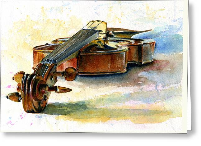 Violin 2 Greeting Card