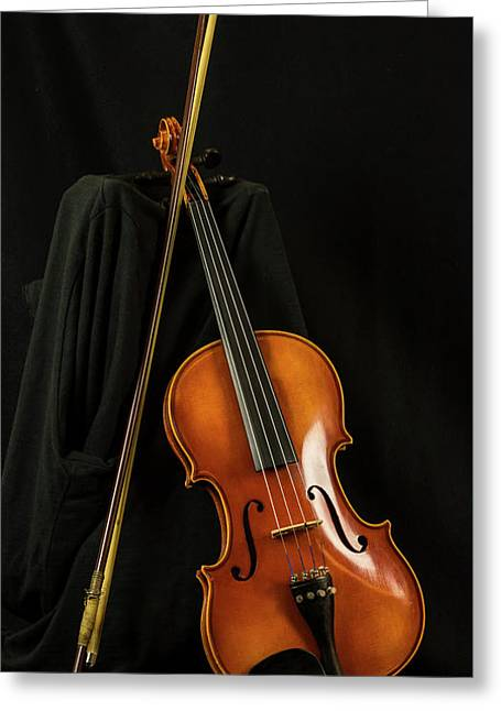 Violin And Bow Greeting Card
