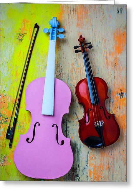 Violin Couple Greeting Card