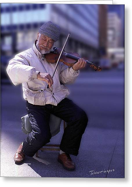 Violin Guy Greeting Card