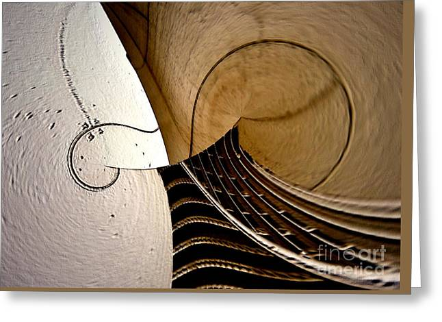 Violin In Abstract Greeting Card