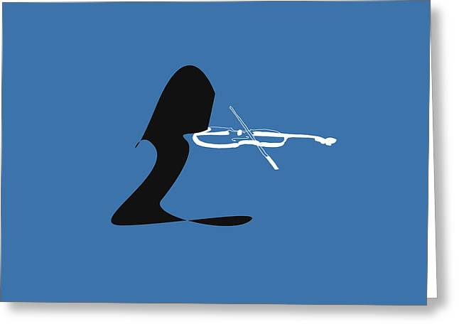 Violin In Blue Greeting Card