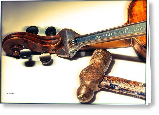 Violin Repair  Greeting Card