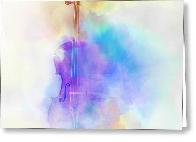 Violin Greeting Card by Scott Meyer