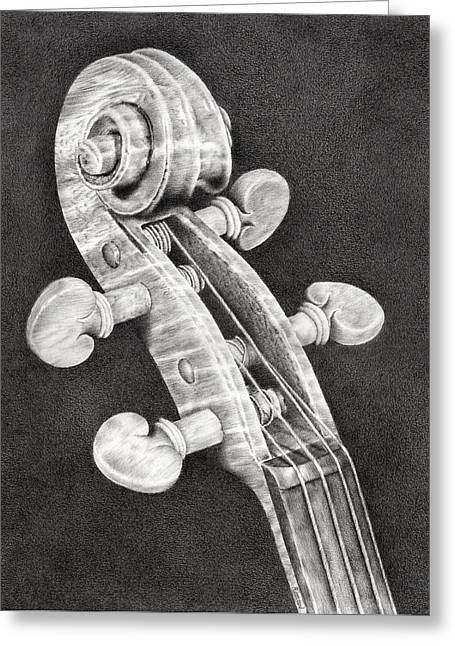 Violin Scroll Greeting Card