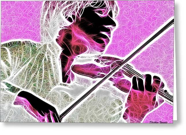 Violin Greeting Card by Stephen Younts