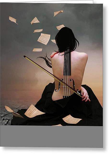 Violin Woman Greeting Card