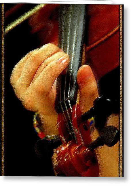 Violinist Greeting Card by Joseph Martin