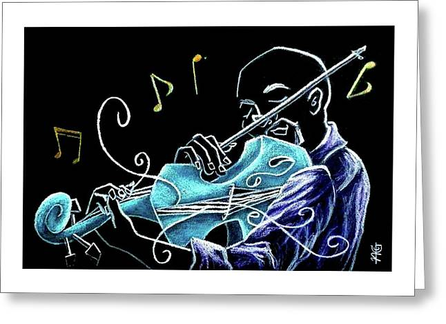 Violinista Gran Caffe Chioggia - Musica Piazza San Marco Greeting Card by Arte Venezia