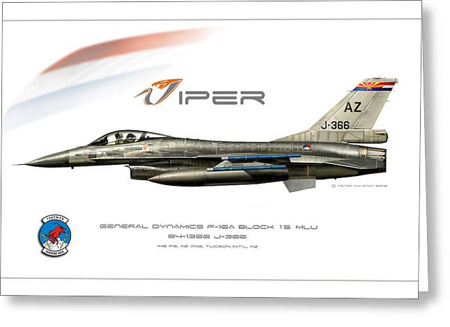 Viper Single Rnlaf Azang Profile Greeting Card