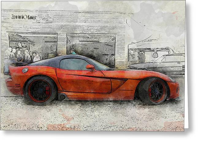 Greeting Card featuring the photograph Viper Zero To 60 by Joel Witmeyer