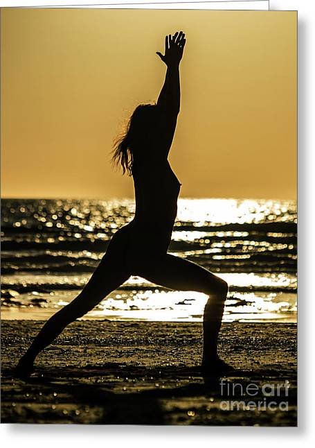 Virabhadrasana_03 Greeting Card