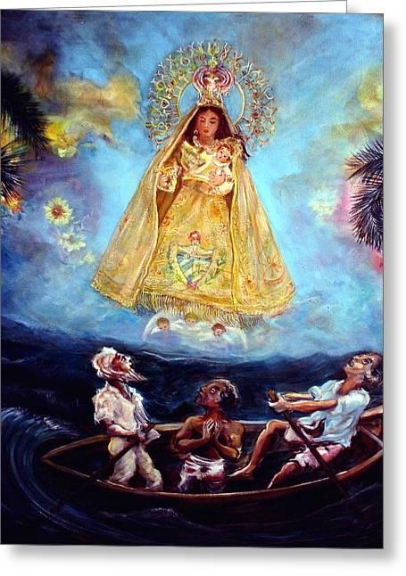 Virgen De La Caridad Del Cobre Greeting Card