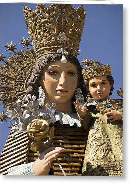 Virgen De Los Desamparados Greeting Card