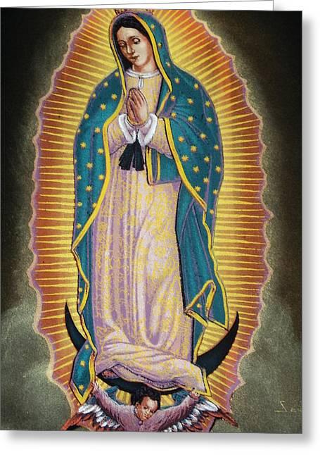 Virgen Greeting Card by Kasper Castillo