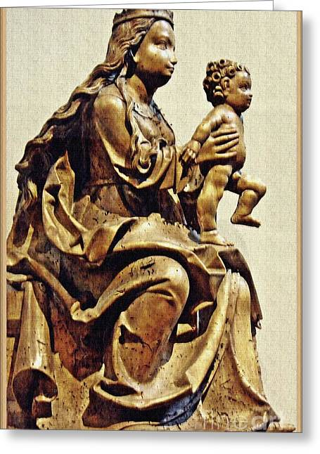 Virgin And Child Bavarian Greeting Card by Sarah Loft