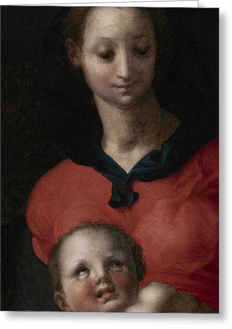 Virgin And Child, Known As The Madonna Del Libro Greeting Card by Jacopo Pontormo