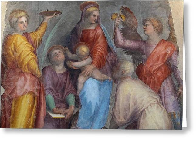 Virgin  Child With Saints Greeting Card