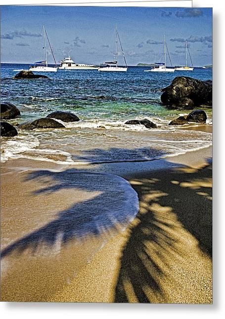 Virgin Gorda Beach Greeting Card by Dennis Cox WorldViews
