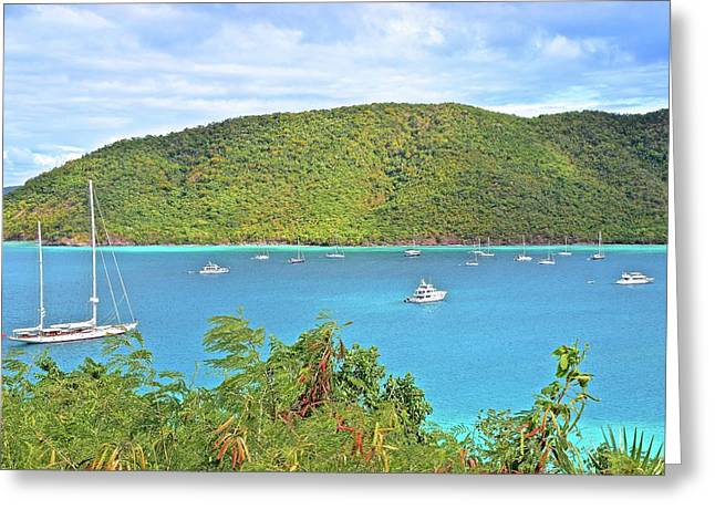 Virgin Island Getaway Greeting Card by Frozen in Time Fine Art Photography