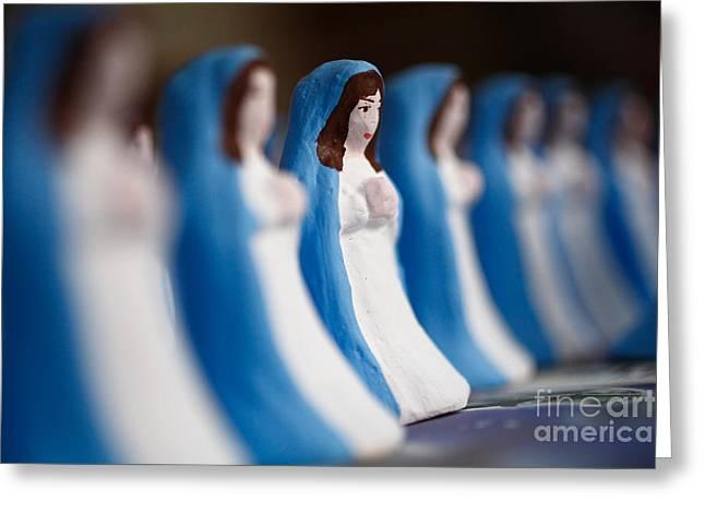 Virgin Mary Greeting Card by Gaspar Avila