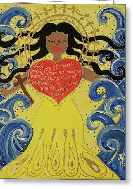 Virgin Of Caridad Greeting Card by Angela Yarber