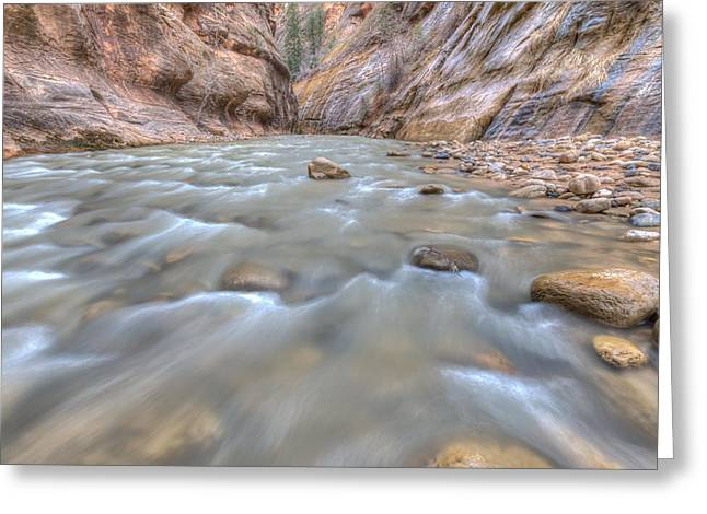 Greeting Card featuring the photograph Virgin River 2 by Paul Schultz