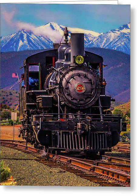 Virgina Truckee Locomotive Greeting Card by Garry Gay