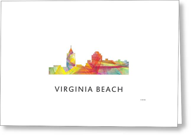 Virginia Beach  Virginia Skyline Greeting Card