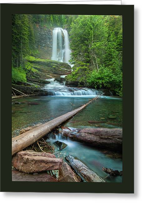 Virginia Falls Of Glacier National Park Greeting Card by Thomas Schoeller