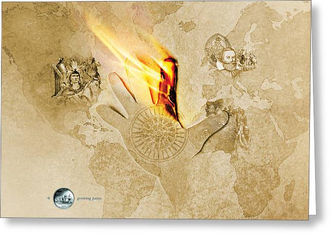 Virginia State Quarterama - Art 10 Greeting Card
