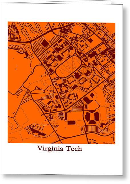 Virginia Tech Campus Greeting Card by Spencer Hall