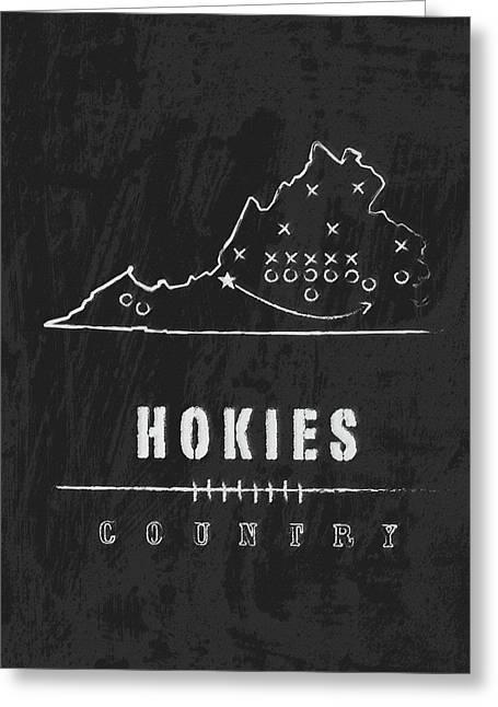 Virginia Tech Hokies Country Greeting Card by Damon Gray