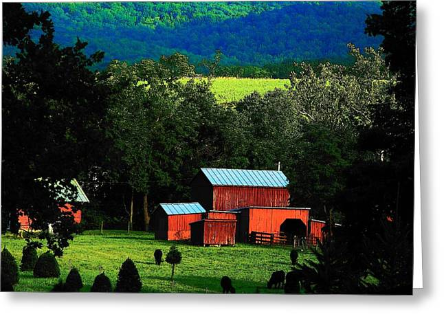 Virginia Valley View Greeting Card