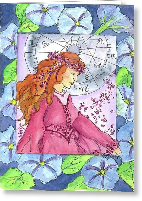 Greeting Card featuring the painting Virgo by Cathie Richardson