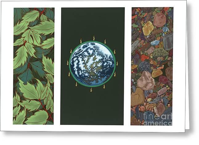 Viriditas Triptych Greeting Card
